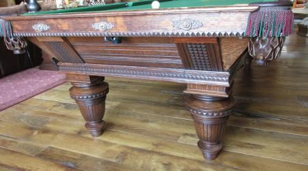 Billiards restoration: Improved Union League pool table