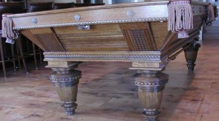Improved Union League biliards table, restored