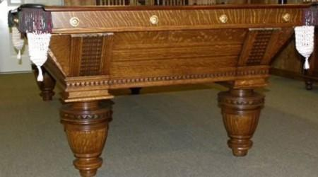 Sturdy, restored Improved Union League pool table