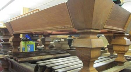 Restoration project: The Universal antique billiards table