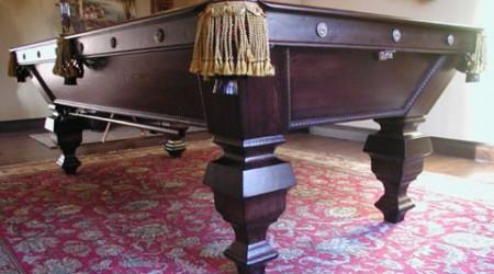 Fully restored antique pool table, The Universal