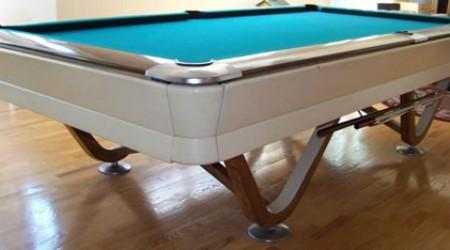 The Viscount, restored commercial billiards table