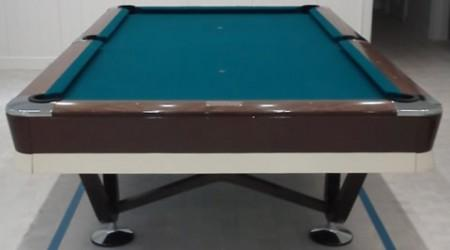 Antique Viscount pool table following complete restoration