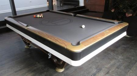 Professional restoration of an antique billiards table: The Viscount