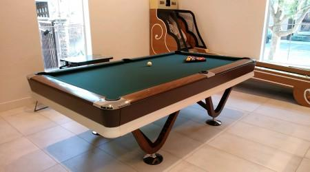 Professionally restored antique Viscount billiards table