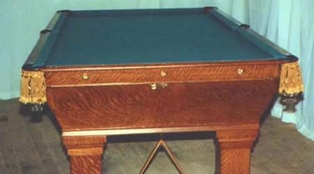 Actual restored Wellington billiards table