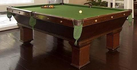 actual restored wellington billiards table antique wellington pool table