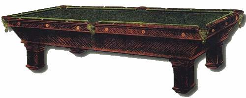 Wellington Antique Pool Table Picture Taken From Brunswick Catalogue