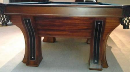 A fully restored Westminster antique billiard pool table by Billiard Restorion Service