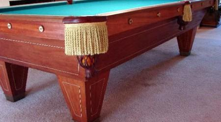 Restored YMCA Special, an antique pool table