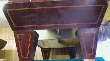 YMCA Special, antique billiard table before restoration