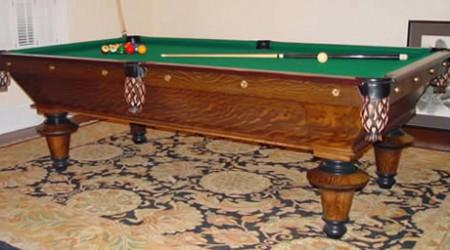Restored York antique billiards table