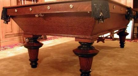 Antique pool table The York