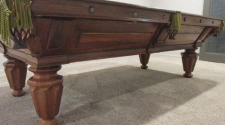 Antique restoration of an H.W. Collender Rosewood pool table