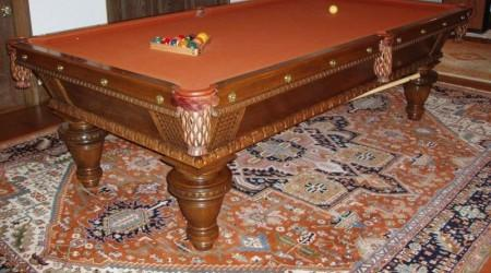 Complete restoration of Thomas Clark Union League billiards table