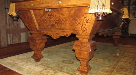 Restored antique Charles Schulenburg Inlaid pool/billiards table