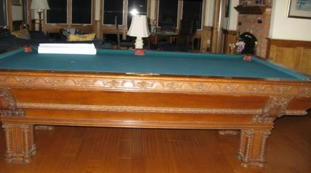 Before Restoration: Brunswick Lockhart billiards table