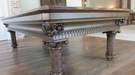 European Gothic, antique pool table