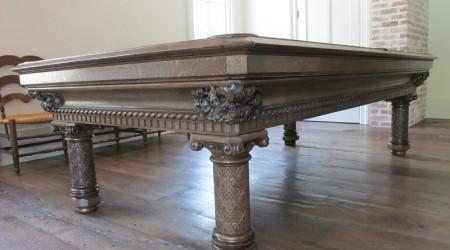 For sale: Restored European Gothic pool table