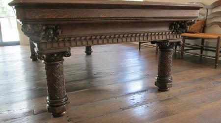 Professionally restored antique European Gothic billiards table
