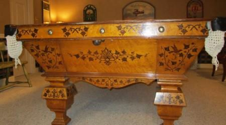 Restored antique W.H. Griffith Ivy billiards table