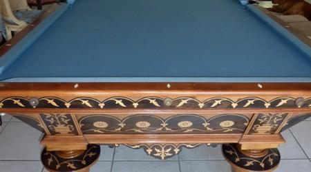 Professionally restored antique billiards table W.H. Griffith Flower