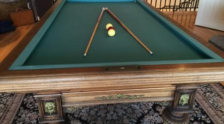 For sale: restored antique Charles Goulet II pool table