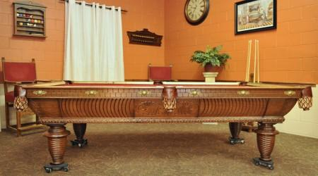 Antique billiards table, the B.A. Stevens #100