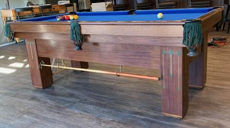 For sale: restored antique Baby Grand pool table