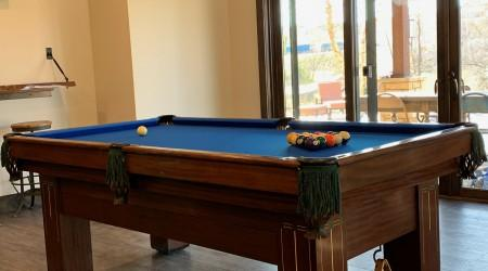 Professionally restored antique Baby Grand billiards table, for sale