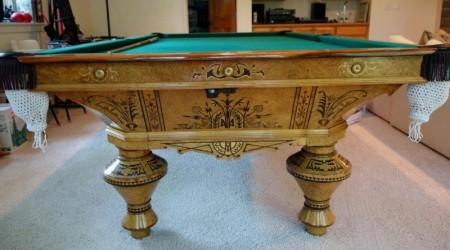 Brunswick & Company II: Restored antique pool table