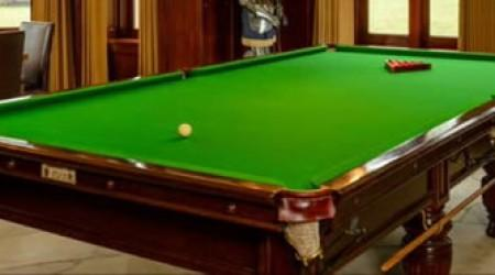 Fully restored Burroughs & Watts II antique snooker table