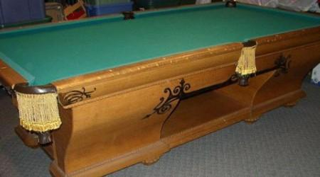 The Cabinet No Restored Antique Pool Table By Billiard Restoration - Pool table cabinet