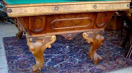 The California Standard, a antique pool table