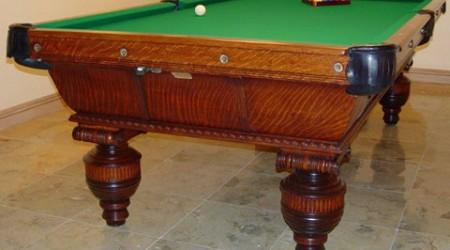Cambridge billiards table, post restoration