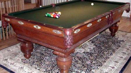 Restored antique - Cambridge billiards table