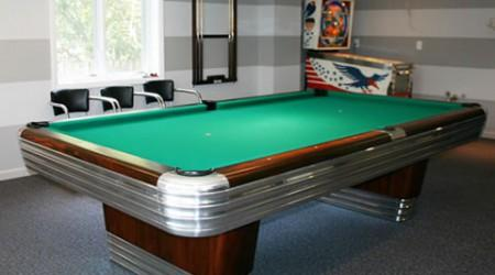The Centennial, a fully restored antique pool table