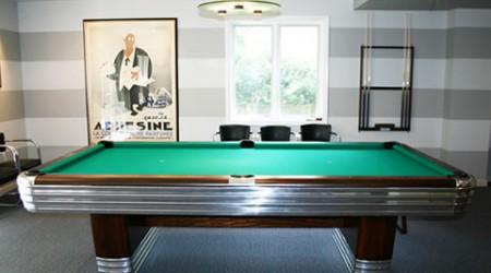 The Centennial is an antique pool table fully restored to orginal factory specs by Billiard Restoration Service