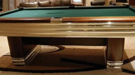 Antique, restored Centennial pool table