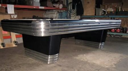 The Centennial, an antique pool table restored by Billiard Restoration Service