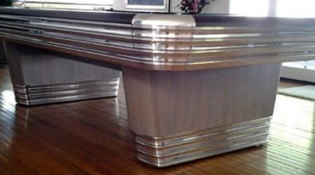 Restored antique Centennial billiards table