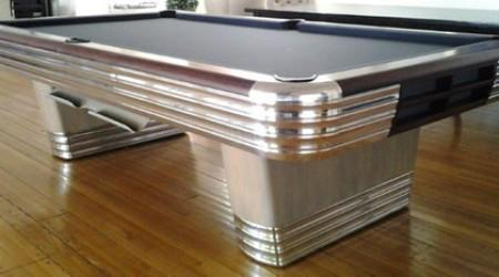 Restored antique Centennial pool table