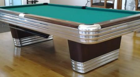 Billiard Restoration's completed Centennial antique restoration project