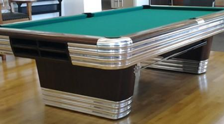 Antique restoration of a Centennial billiards table