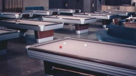 Showroom featuring antique Centennial pool table