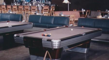 Antique Centennial pool table featured on showroom floor