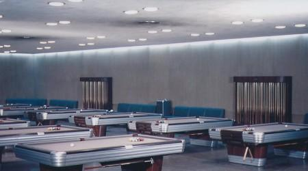 Billiards antique table The Centennial in showroom