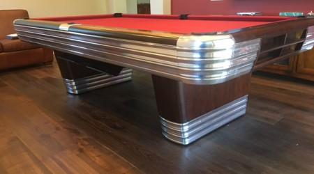 Professional restoration: Finished Centennial pool table