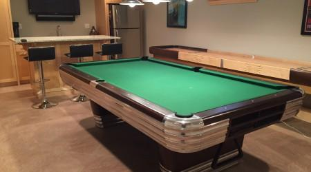 "Billiard Restoration's antique ""The Centennial"" billiards table"