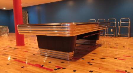"Complete restoration, antique ""The Centennial"" billiards table"